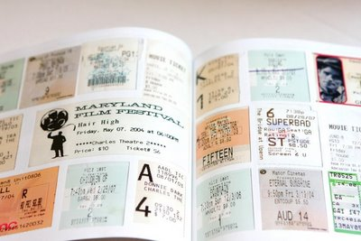 Cool photo guestbook idea i do it yourself school id cards from the year we met receipts from our first date notes and letters that wed written each other and ticket stubs to nearly every movie solutioingenieria Choice Image