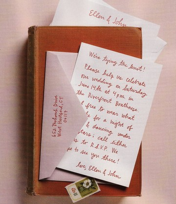 Imagine your own handwriting preserved in yummy letterpress for your wedding