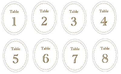 Candy Jar Labels & Table Numbers | 'i do' it yourself®