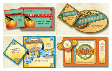 Vintage Handcrafted Product Labels | 'i do'-it-yourself®