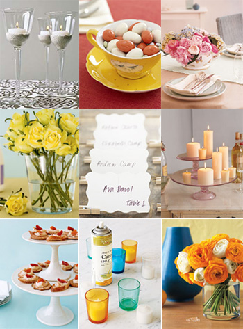 Real Simple Magazine shows us new wedding uses for old things by repurposing