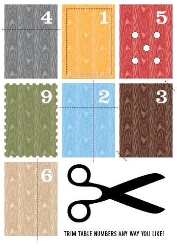 printable faux-bois-table numbers