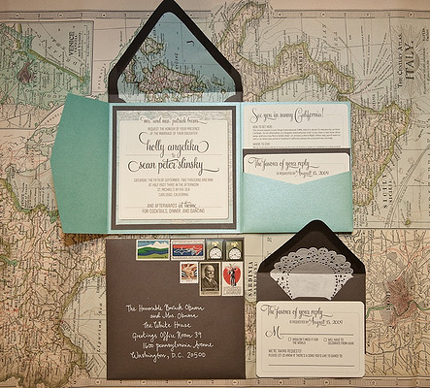 Just Happily Ever After The Wedding Blog Create Travel Inspired Invitations