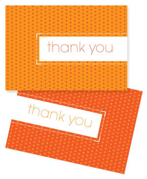 free printable thank you card_orange