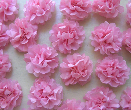 Diy tiny tissue paper flowers i do it yourself tissue flowers zakka life mightylinksfo