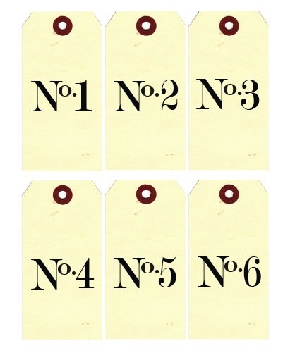Légend image with regard to printable number tags