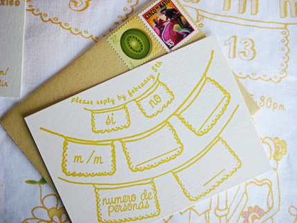 freezer paper handkerchief invites 3