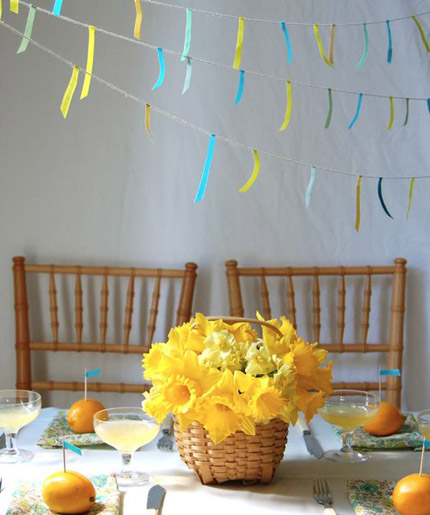 japanese tape garland project wedding frolic
