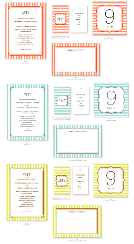 stripes invitation