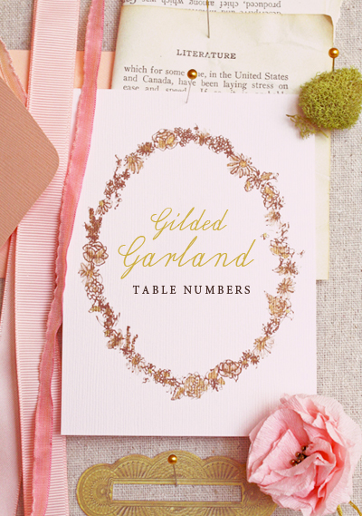 gilded garland TableNumbers1